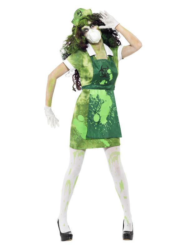 Biohazard Female Costume, Green