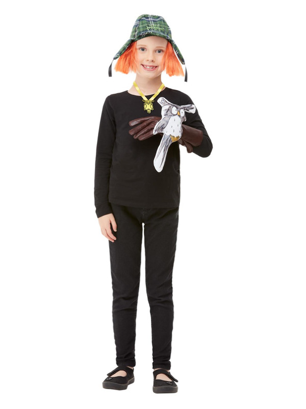 David Walliams Awful Auntie Kit, Green, with Owl Accessory, Glove, Necklace & Hat with Wig