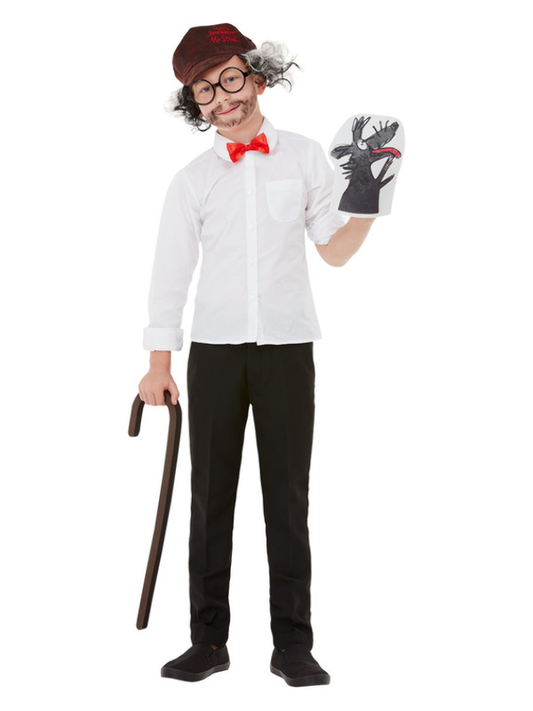 David Walliams Mr Stink Kit, Brown, Walking Stick, Glasses, Bow Tie, Puppet, Hat & Wig