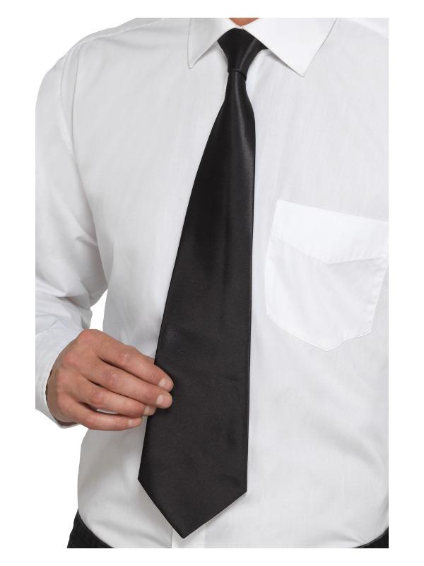 Deluxe Black Gangster Tie, Black