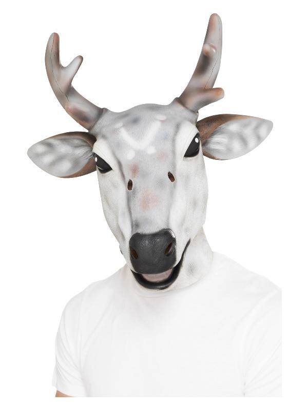 Reindeer/Stag Latex Mask, Grey