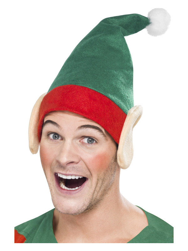 Elf Hat, Green, with Ears