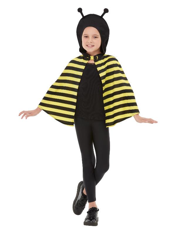 Bumblebee Hooded Cape, Black & Yellow