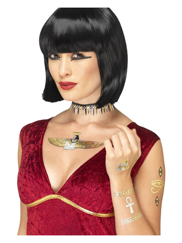 Egyptian Transfer Tattoos, Metallic