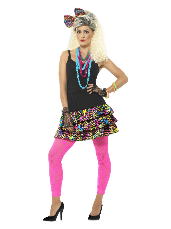 80s Party Girl Kit, Multi-Coloured