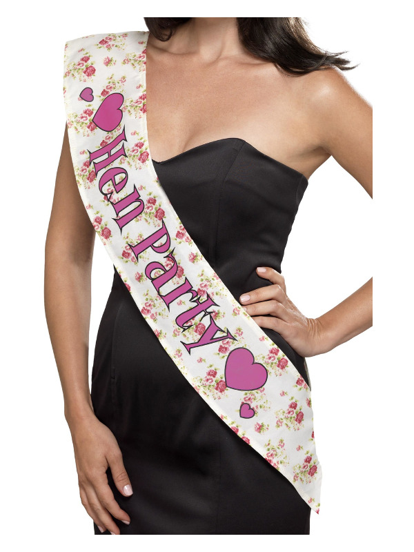 Deluxe Vintage Hen Party Sash, Pink