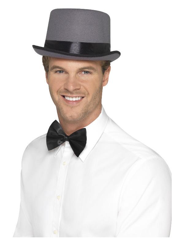 Top Hat, Grey, with Elastic Inner Rim