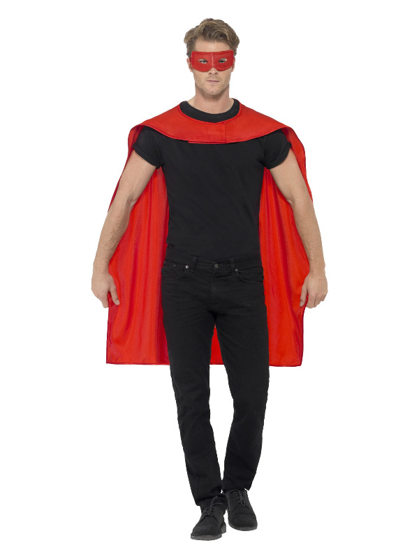 Cape, Red, with Eyemask