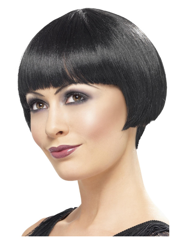 20s Flapper Bob Wig, Black, Short