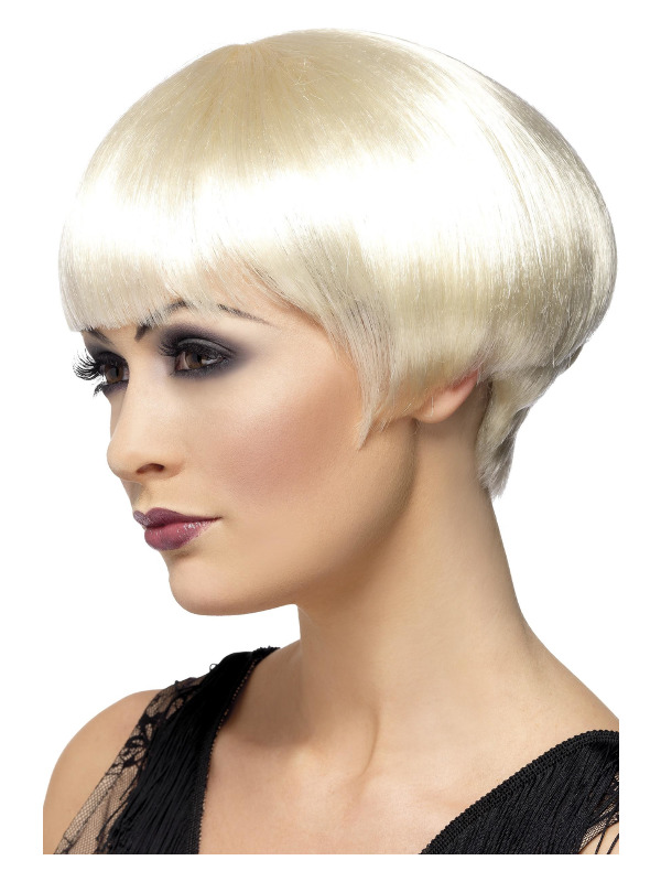 20s Flapper Bob Wig, Blonde, Short