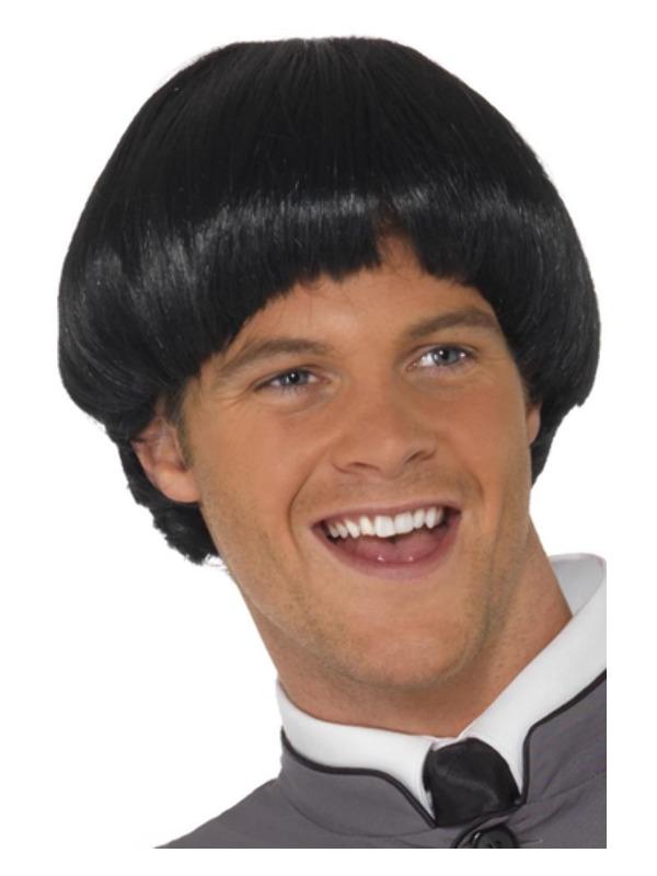 Swinging '60s Bowl Wig, Black