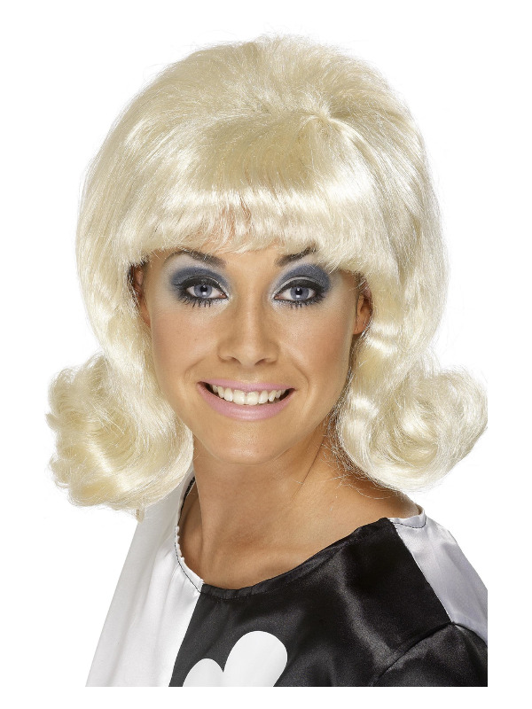 60s Flick-Up Wig, Blonde, Short