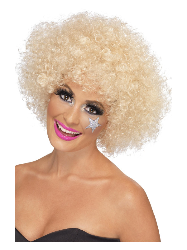 70s Funky Afro Wig, Blonde, 120g