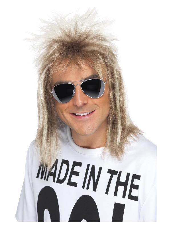 80s Mullet Wig, Blonde