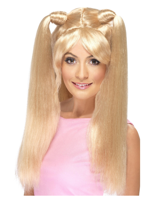 Baby Power Wig, Blonde, with Pony Tails