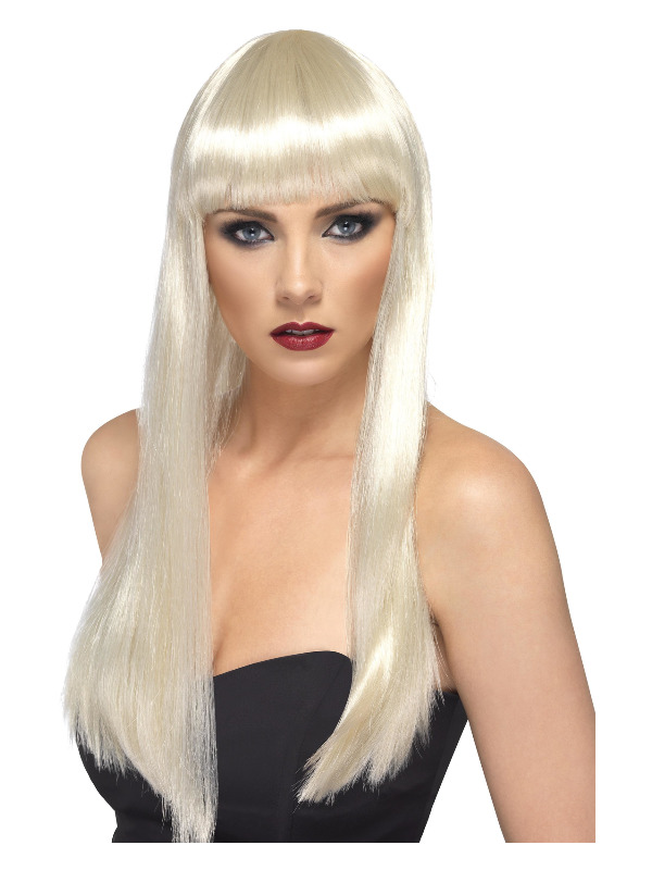 Beauty Wig, Blonde, Long, Straight with Fringe