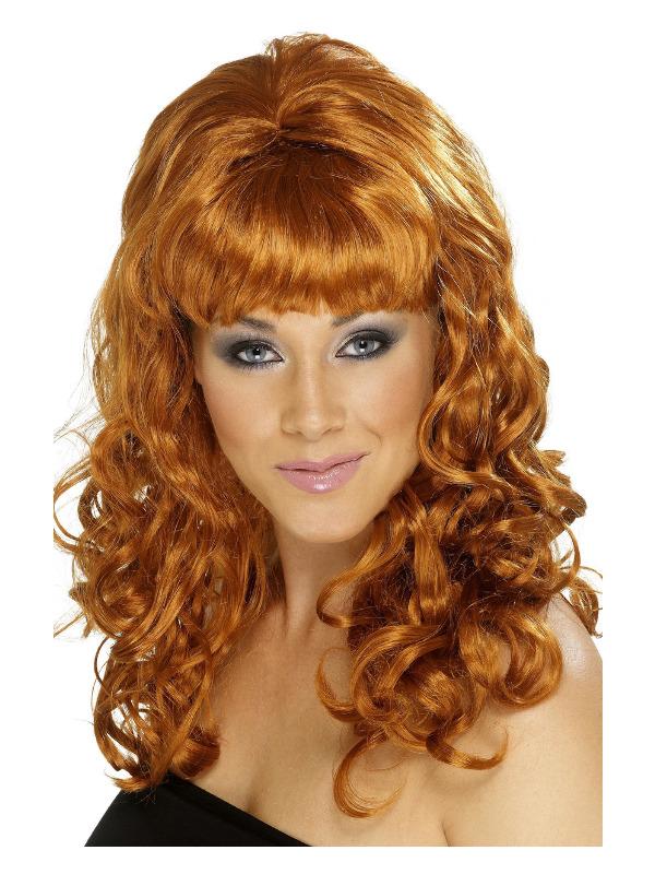 Beehive Beauty Wig, Auburn, with Curls