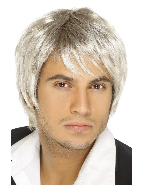 Boy Band Wig, Blonde & Brown, Short Style