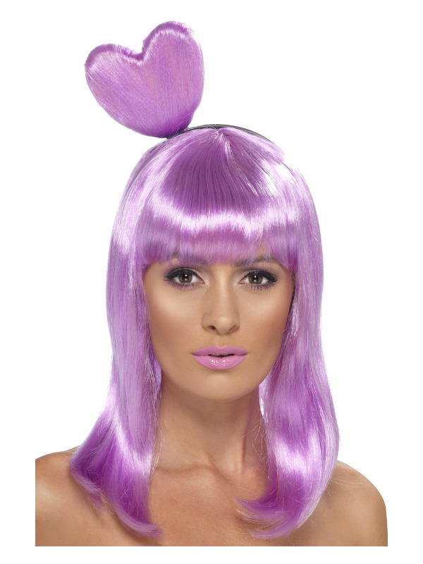 Candy Queen Wig, Lilac, with Heart Headband