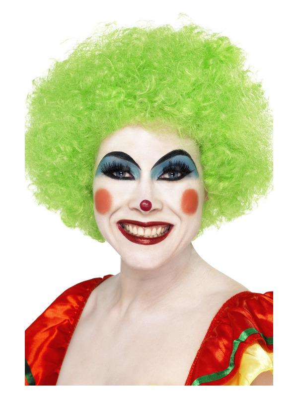 Crazy Clown Wig, Green, 120g