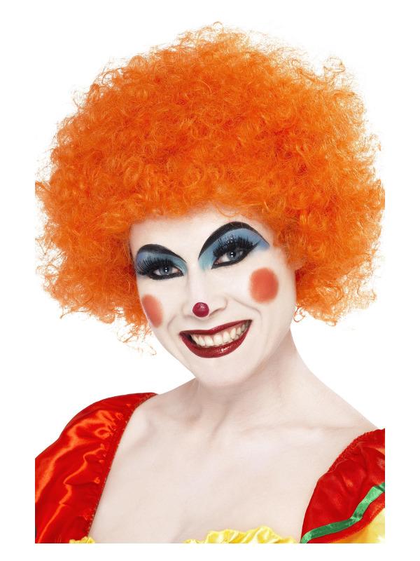 Crazy Clown Wig, Orange, 120g