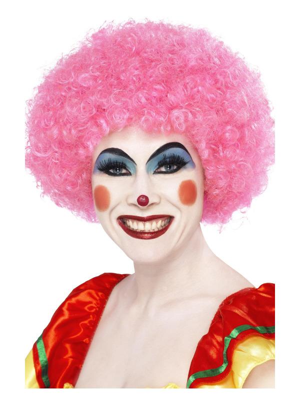 Crazy Clown Wig, Pink, 120g