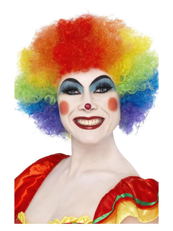 Crazy Clown Wig, Rainbow, 120g