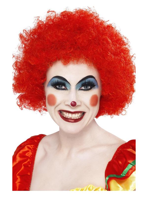 Crazy Clown Wig, Red, 120g