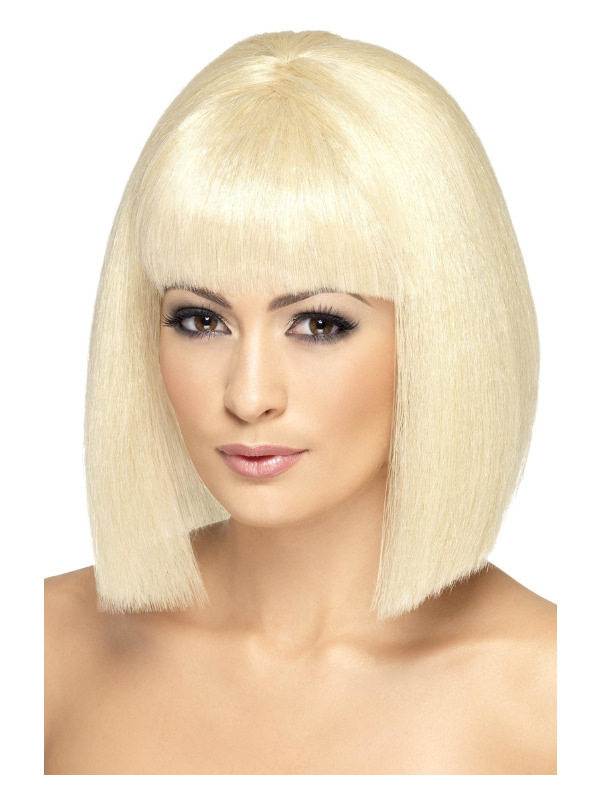 Coquette Wig, Blonde, Short with Fringe