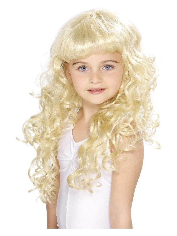 Girl's Princess Wig, Blonde, Curly