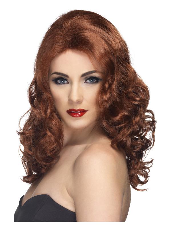 Glamorous Wig, Auburn, Long and Wavy