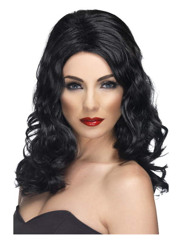 Glamorous Wig, Black, Long and Wavy