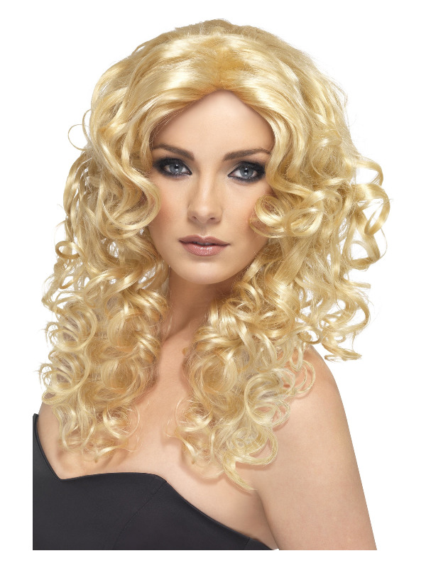 Glamour Wig, Blonde, Long, Curly