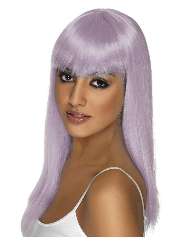 Glamourama Wig, Lilac, Long, Straight with Fringe