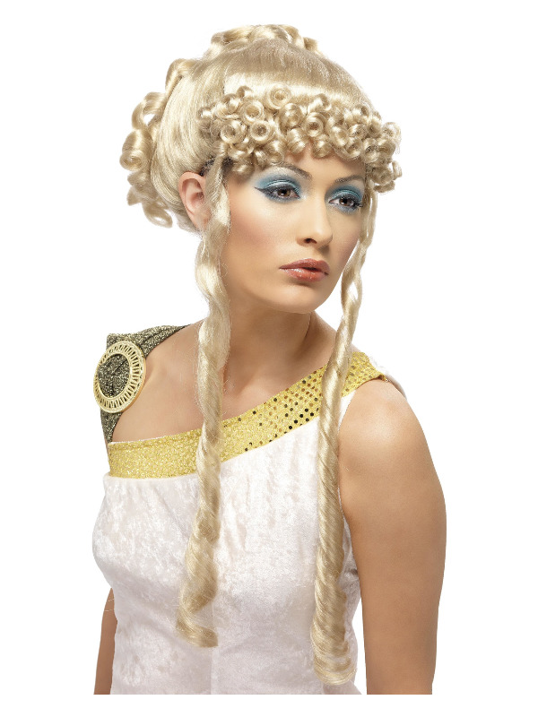 Greek Goddess Wig, Blonde, with Curls and Ringlets