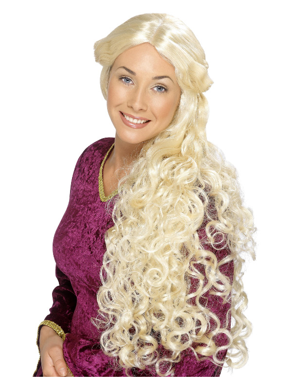 Renaissance Wig, Blonde, Very Long, Skin Parting
