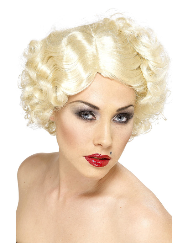 Hollywood Icon Wig, Blonde, with Short Curls