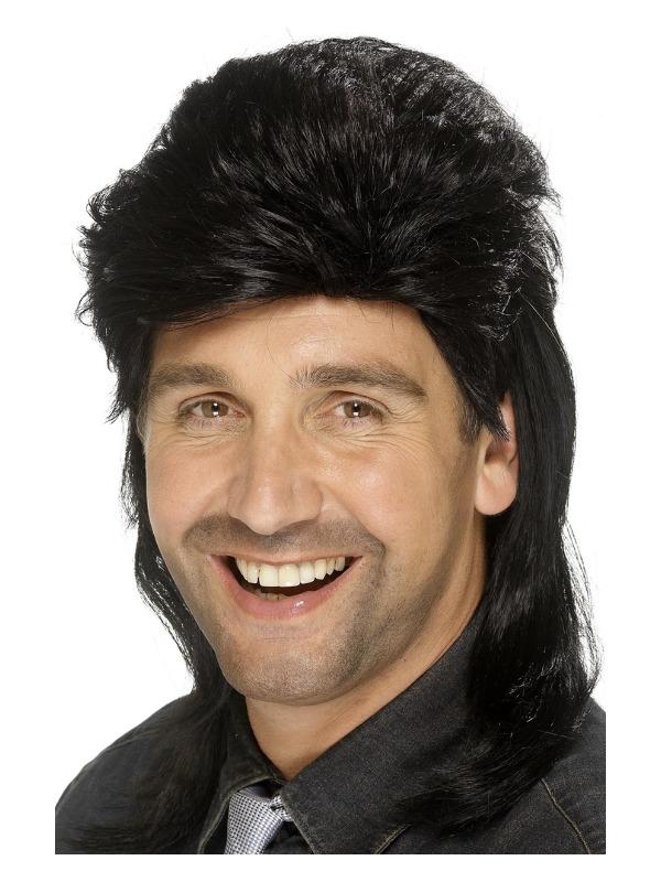 Mullet Wig, Black