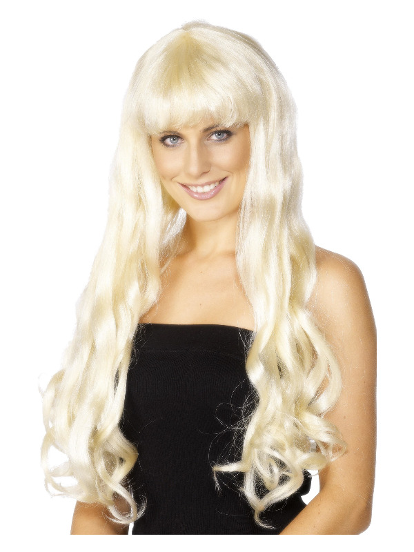 Paris Wig, Blonde, Long, Wavy with Fringe, 74cm / 29in