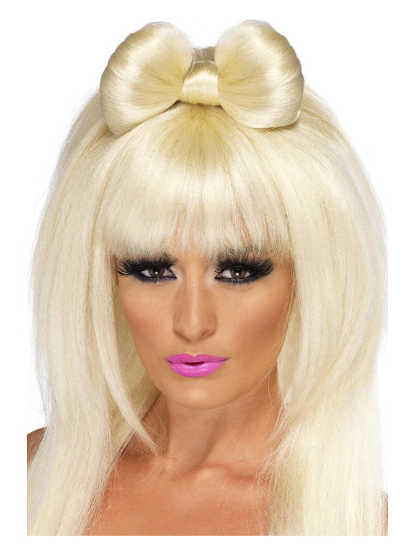 Pop Sensation Wig, Blonde, Long with Bow