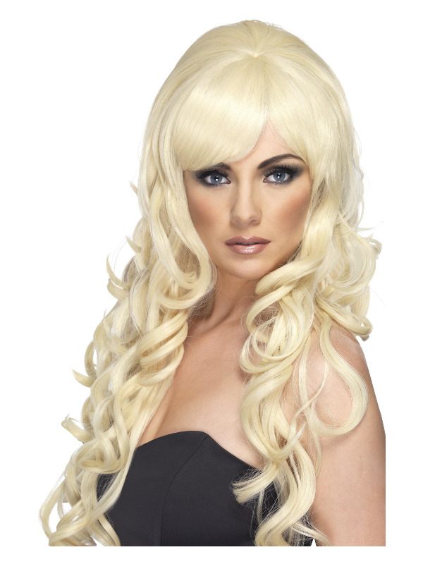 Pop Starlet Wig, Blonde, Long and Curly