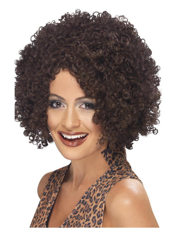 Scary Power Wig, Brown, Afro Style