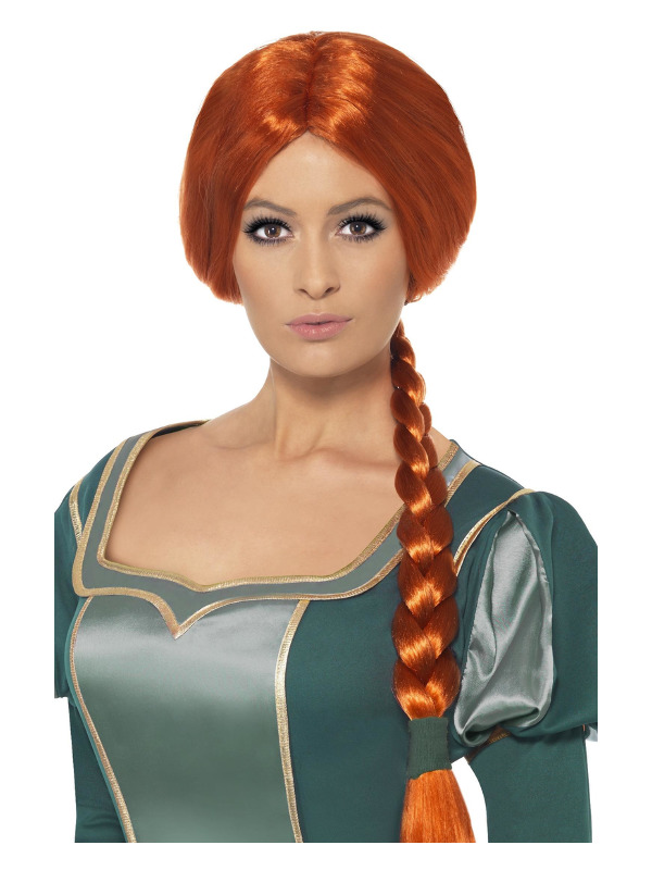 Shrek Princess Fiona Wig, Auburn, Plaited