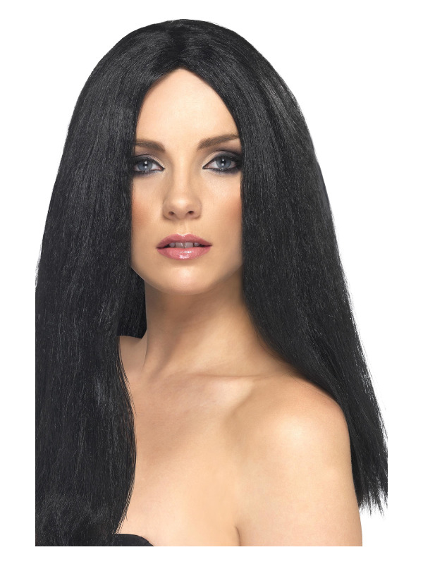 Star Style Wig, Black, 44cm / 17in Long, Straight