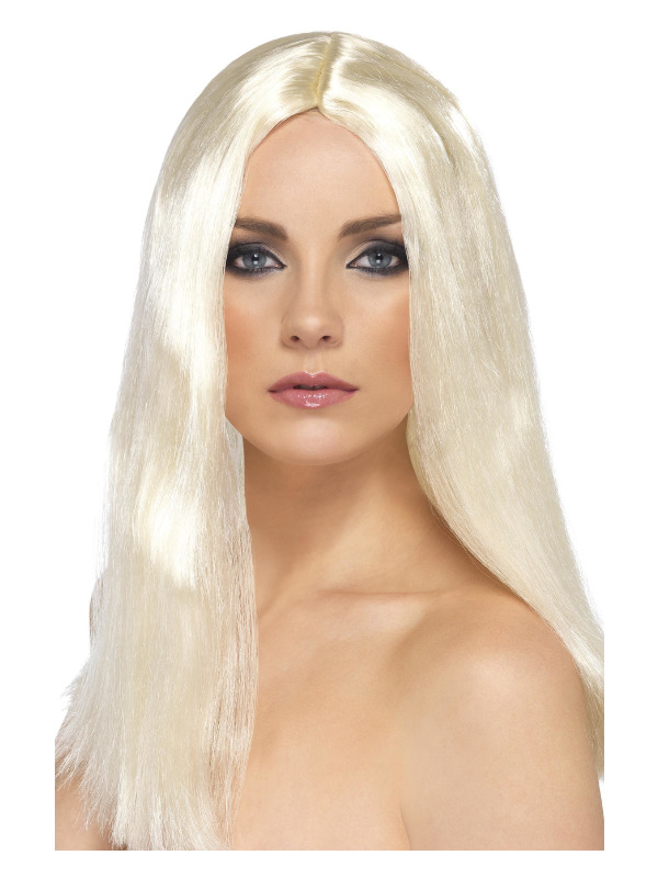 Star Style Wig, Blonde, 44cm / 17in Long, Straight