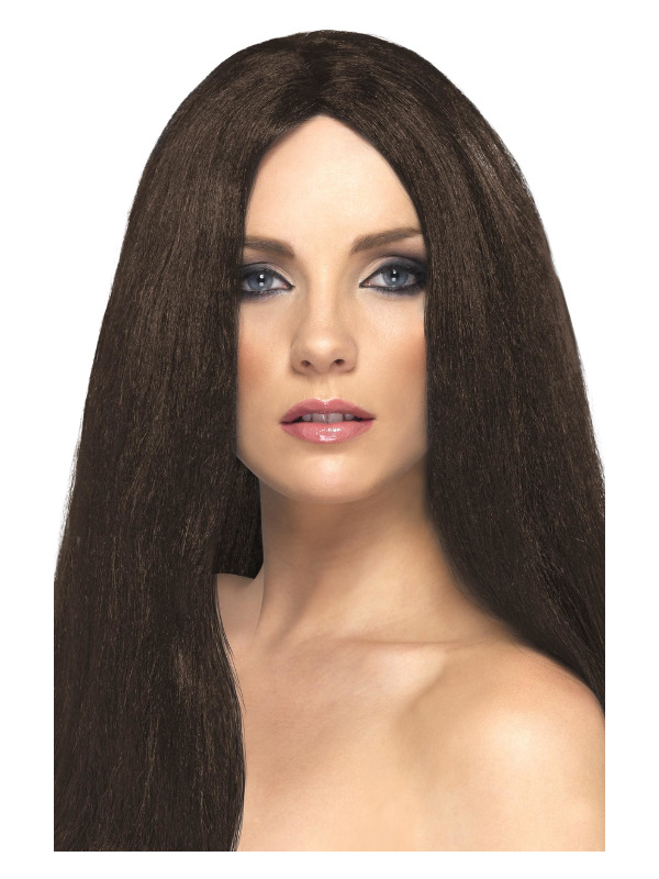Star Style Wig, Brown, 44cm Long, Straight