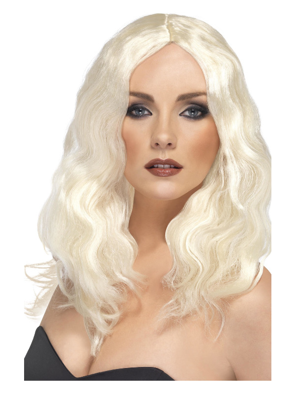 Superstar Wig, Blonde, Long, Wavy, with Skin Parting