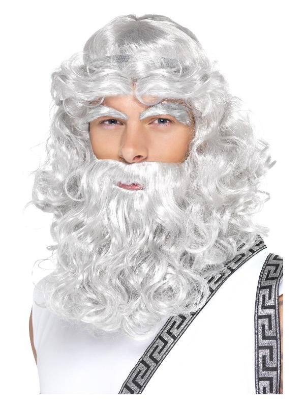 Zeus Kit, Grey, with Wig, Beard & Eyebrows