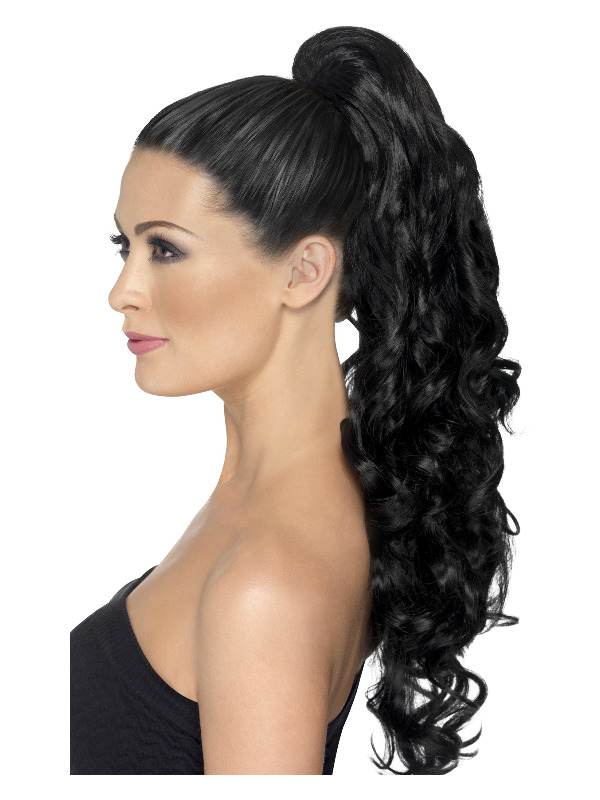 Divinity Hair Extension, Black, Curly, on Clip