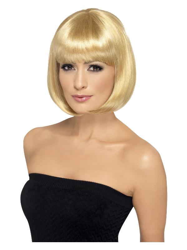Partyrama Wig, 12 inch, Dark Blonde, Short Bob with Fringe